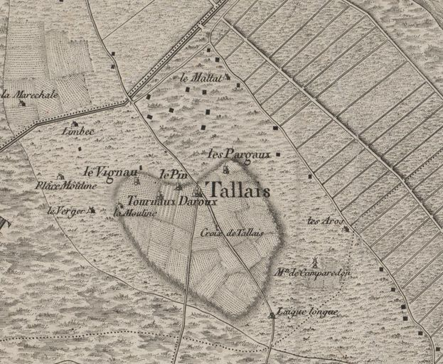Extrait de la carte de Belleyme, 1763-1764.