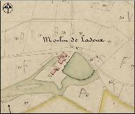 Extrait du plan cadastral de 1825, section A1.