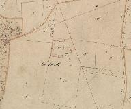 Extrait du plan cadastral de 1831, section C.