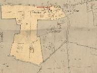 Extrait du plan cadastral, 1832, section B2.