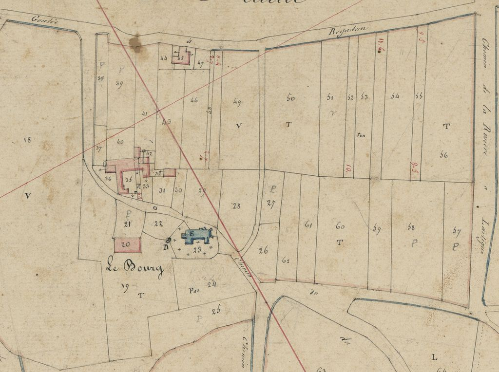 Extrait du plan cadastral, 1831 : section C1.