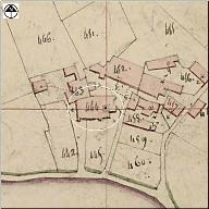 Extrait du plan cadastral de 1825, section C1.