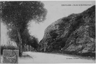 Route de Saint-Germain, carte postale ancienne, H. Cassan, écrite en 1906.