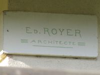 Signature de l'architecte Ed. Royer.