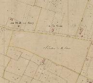 Extrait du plan cadastral de 1833, section F2 : Au Moulins de Garry.