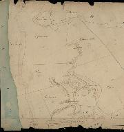 Extrait du plan cadastral de 1833, section D2 : dunes au sud de la commune.