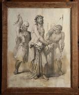Lithographie : Flagellation du Christ
