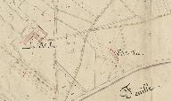 Extrait du plan cadastral de 1843, section C1, parcelle 3.