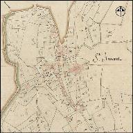 Extrait du plan cadastral de 1818, section B2.