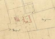 Extrait du plan cadastral, section D, 1831.
