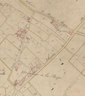 Extrait du plan cadastral, 1819, section B1 : parcelle 206.